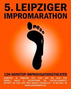Plakat zum 5. Leipziger Impromarathon