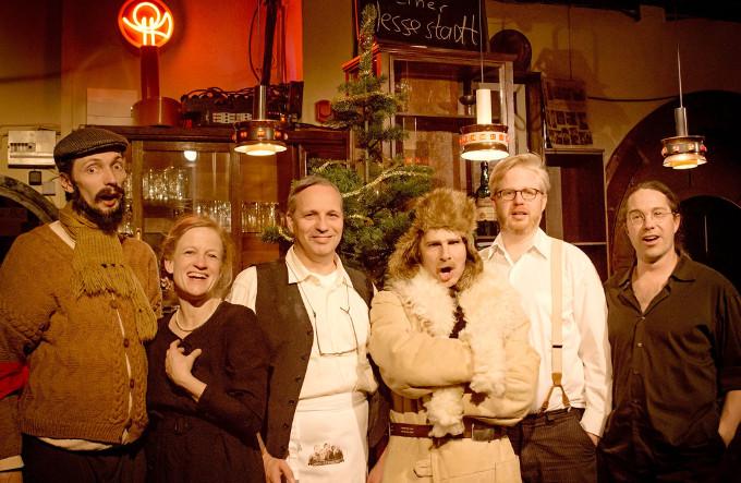 Friedrich Krause, Adele und Adolf Südknecht, Gework Wantanjan, Musiker Claude und Ernst (Foto: Armin Zarbock)